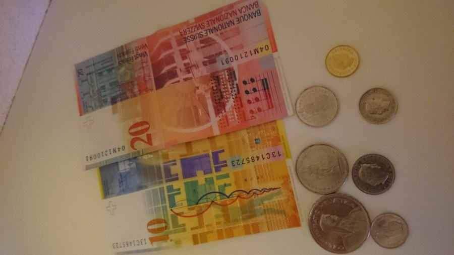 Francos suizos. Visto y no visto.
