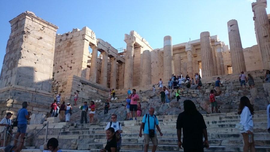 Qué ver en Atenas. Acrópolis. Propileos.