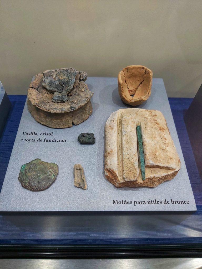 Accesorios en el museo monográfico del castro de Viladonga