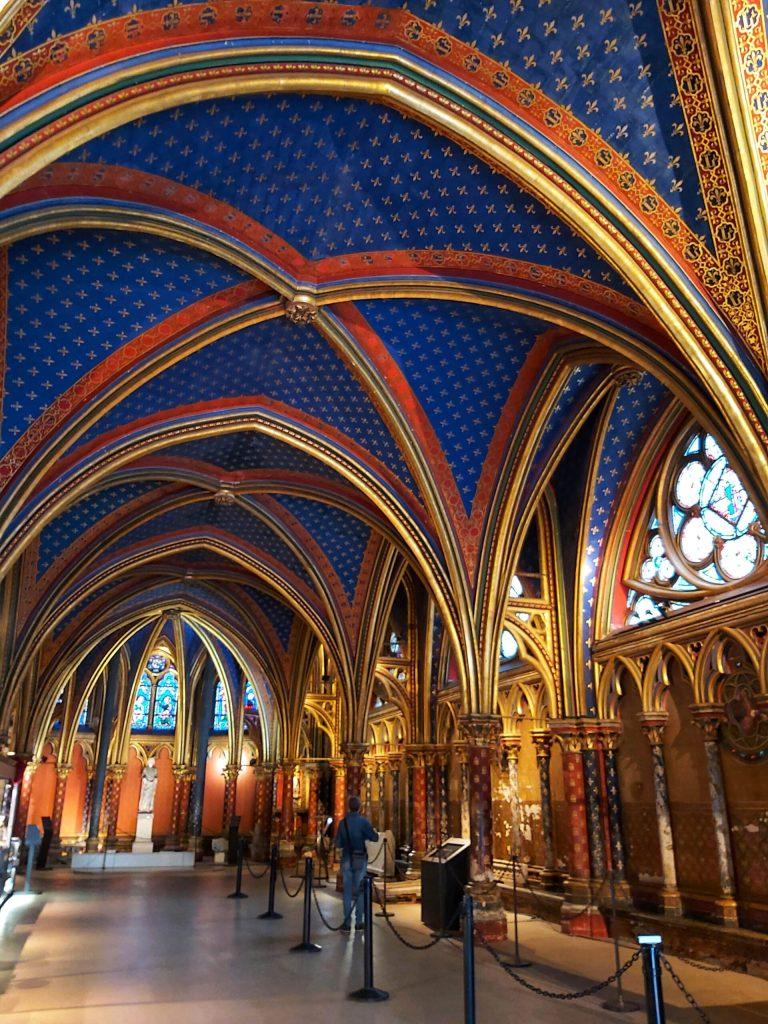 Sainte Chapelle, parte inferior.