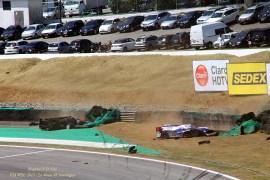 Logo após o acidente do Lotus com o Toyota