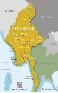 Myanmar ruta de viaje