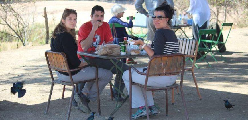 comiendo en el kruger durante nuestro viaje por libre a Sudáfrica
