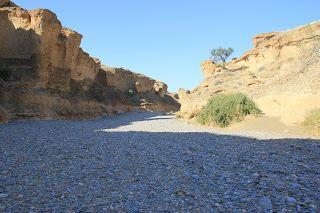 Cañón de Sesriem desde su interior, visita al desierto de Namib