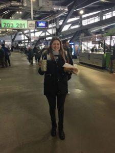 Con comida en el estadio, New YOrk