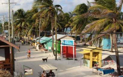 Caye Caulker Belice main street