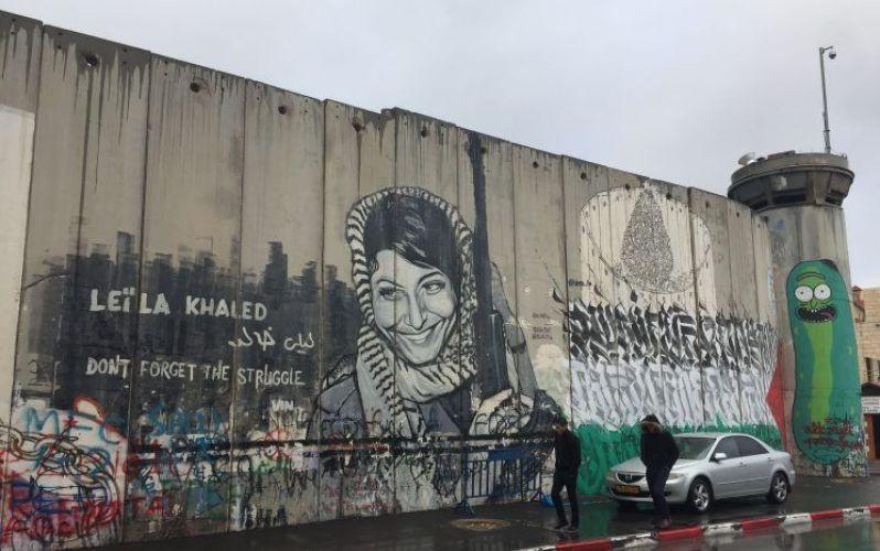 el muro que separa Israel de Palestina