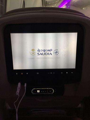 Pantalla Saudia Airlines