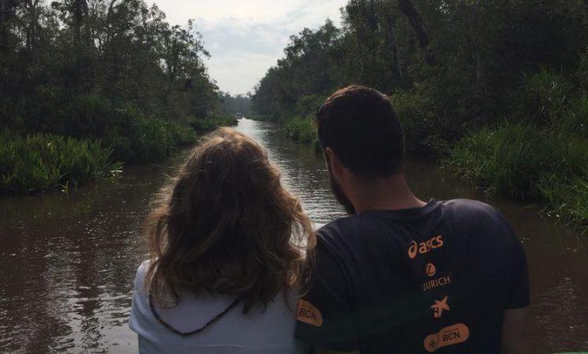 klotok para ver orangutanes en Borneo