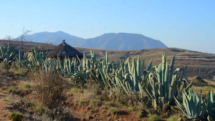 Paisaje de las montañas de Lesoto