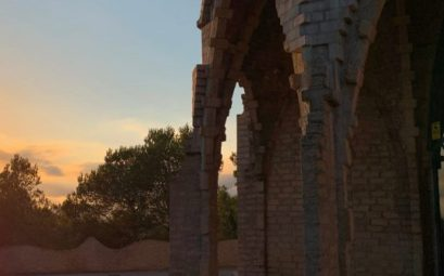 Puesta de sol en el Santuario de Montferri