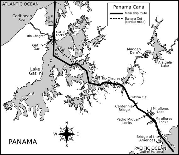 panama-canal-mapa