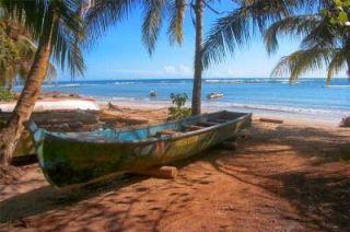 Playa durante nuestra visita a Puerto Viejo