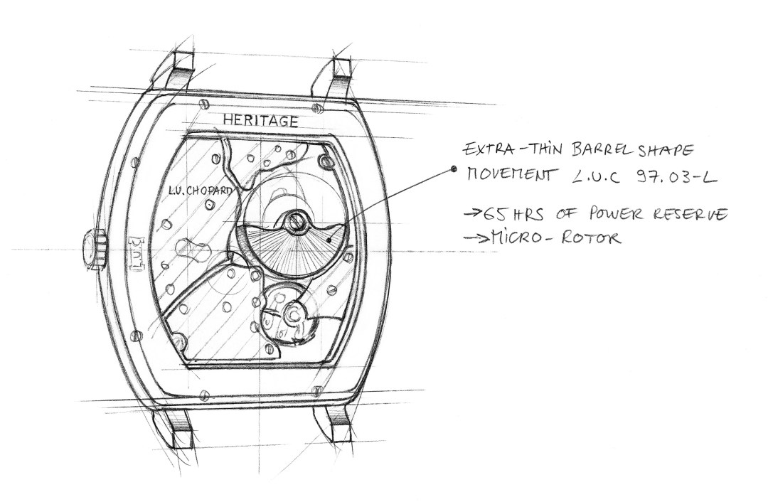 L.U.C Tonneau Heritage - Sketch 3 - Barrel shape movement copy