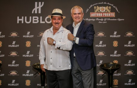 Carlito Fuente and Ricardo Guadalupe launching the Classic Fusion Fuente copy