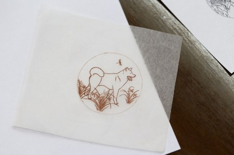 002 - Drawing of the Urushi year of the dog dial copy
