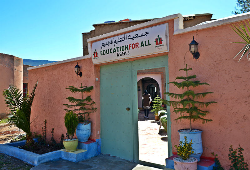 front of education for all near marrakech morocco eileen cotter wright