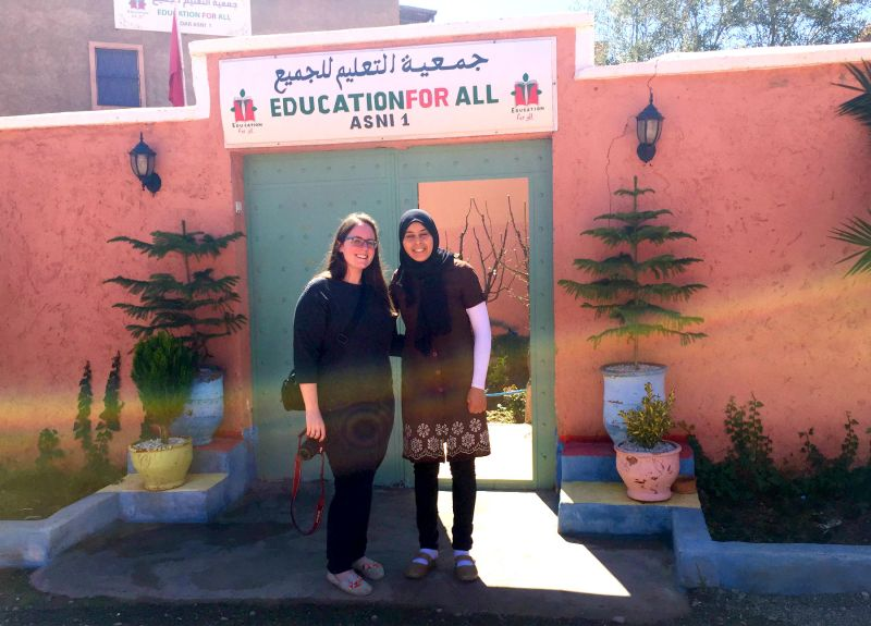 me in front of education for all school near marrakech morocco eileen cotter wright