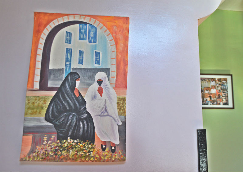 painting of islamic women marrakech morocco eileen cotter wright