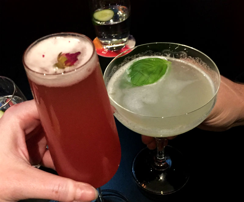 drinks at epicurean in edinburgh scotland eileen cotter wright