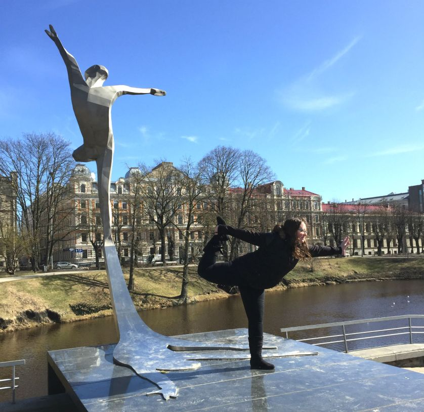 dancer statue riga lativa eileen cotter wright
