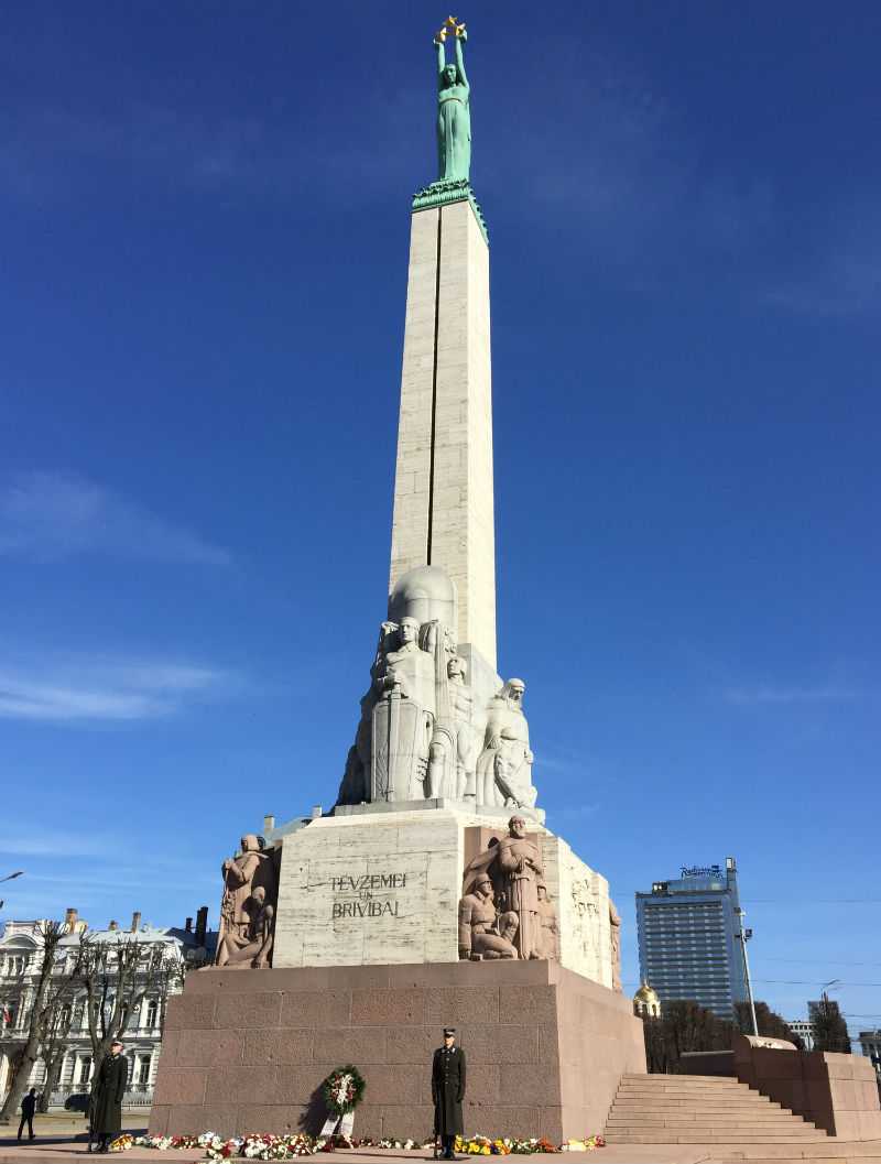 freedom monument riga lativa eileen cotter wright