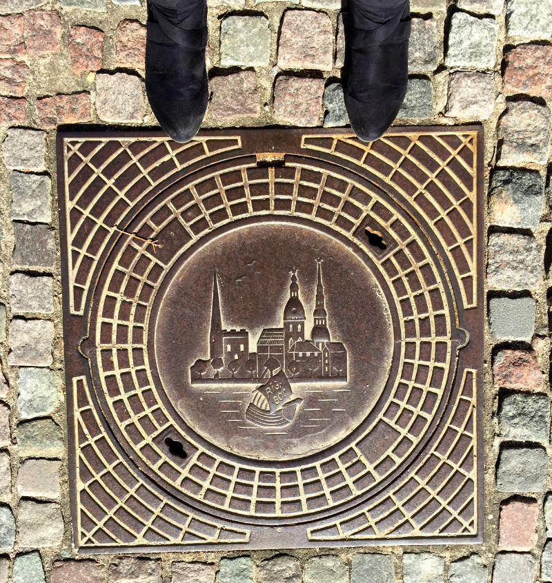 manhole cover riga lativa eileen cotter wright