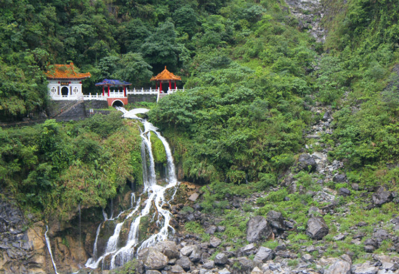 temple waterfall taiwan eilee cotter wright