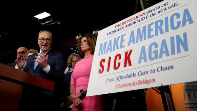 Image result for photos of republicans voting against ACA
