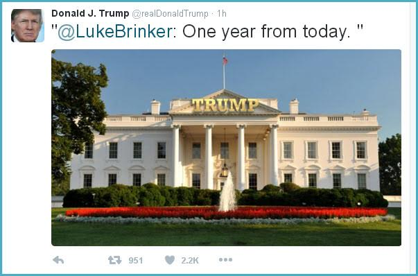 Trump Endorses Tacky White House 'Makeover' On Twitter