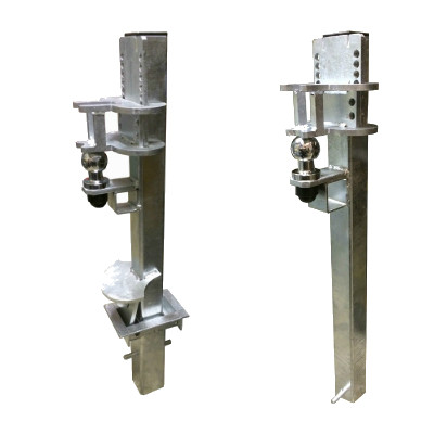 Crookstoppers removable and fixed caravan or trailer security posts.