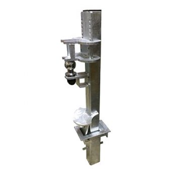 Crookstoppers removable caravan or trailer security post.