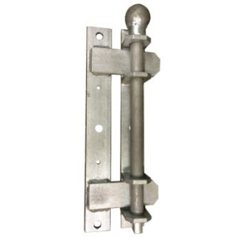 Crookstoppers Ingham gate locks showing the 3 individual parts when in the closed position.