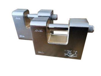 2 Keyed Alike IFAM ARM80 Armoured Rectangular Padlocks.
