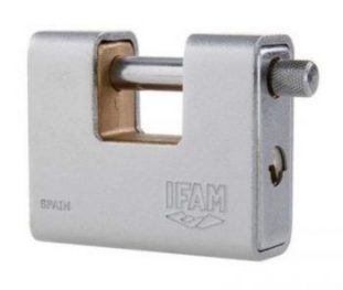 IFAM ARM80 Armoured Rectangular Padlock.