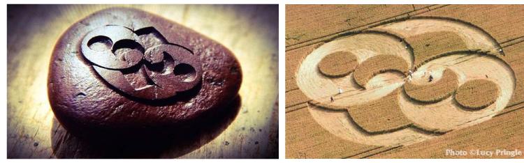 Crop Circle de Chiseldon et Pierre de Roswell