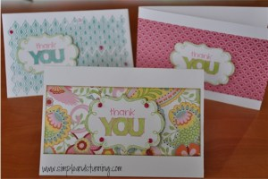My first play with CTMH stamps and the Chantilly range.  Gotta say, I love it!