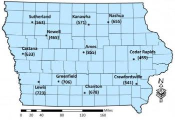 2019 degree day map for corn rootworm.