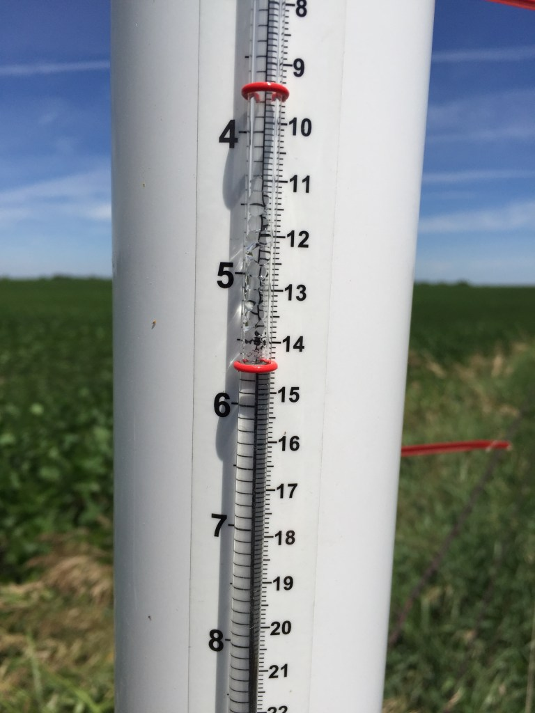 ETgage used to measure crop water use.
