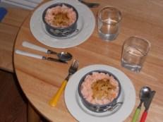 Gratin de chou-fleur - saumon