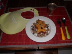 Purée de carottes et de potiron - chipolata