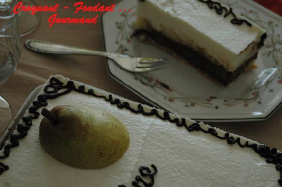 Mousse de poires sur ganache au chocolat - septembre 2008 092 copie