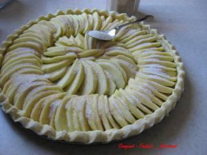 Tarte aux pommes aux noix - decembre 2009 025