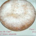 Gâteau de Capri chocolat blanc-amande -DSC_4740_13086