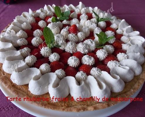 Tarte rhubarbe-fraise & chantilly de mascarpone DSCN6747_26867