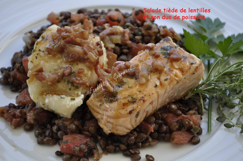 Salade tiède de lentilles et son duo de poissons _DSC0040_27529