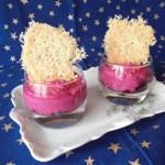 à vous de jouer plaisirs de la maison mousse de betterave et tuile de parmesan CIMG4130