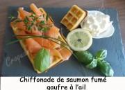 Chiffonade de saumon fumé et gaufre à l'ail doux Index DSCN6524_26644
