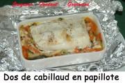 Dos de cabillaud en papillote Index - 11- 2008 059 copie