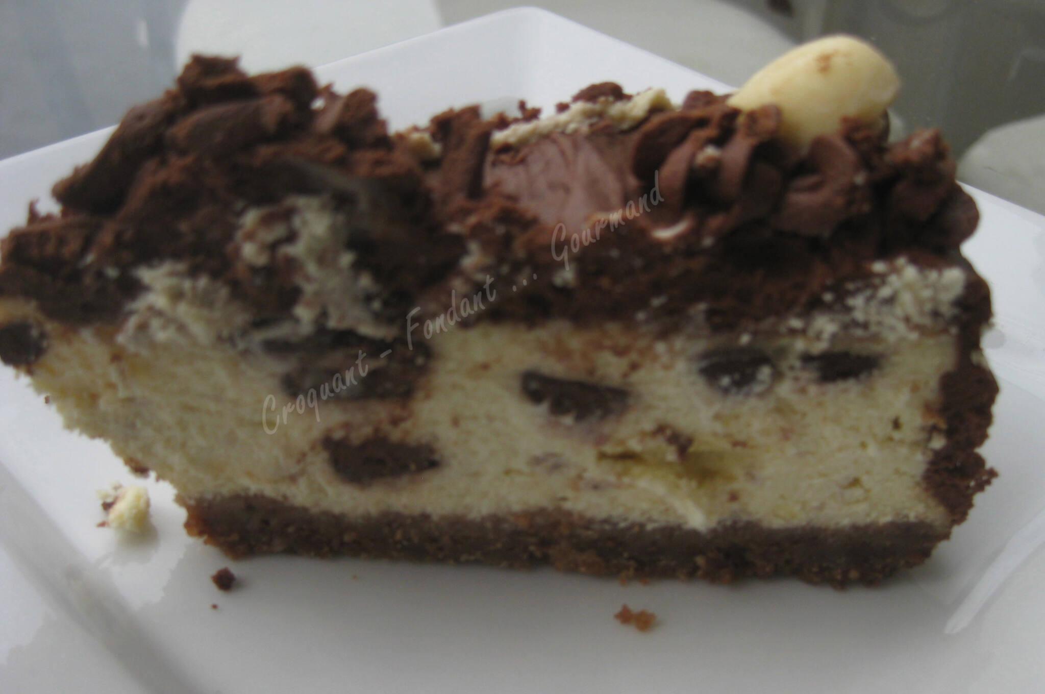 Cheesecake au chocolat - Croquant Fondant Gourmand